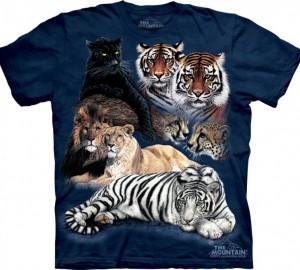 Футболка The Mountain Big Cat Collage - Большие кошки