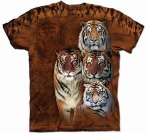Футболка The Mountain Siberian & Bengal - Сибирские и бенгальские тигры