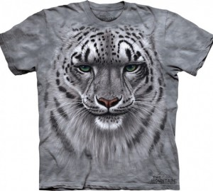 Футболка The Mountain Snow Leopard Portrait - Морда снежного леопарда (Ирбис)