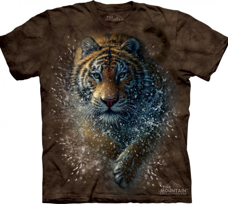 Футболка The Mountain Tiger Splash - Тигр в брызгах