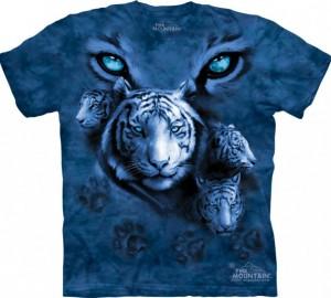 Футболка The Mountain White Tiger Eyes - Глаза белого тигра