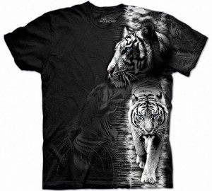Футболка The Mountain White Tiger Stripe - Тигр альбинос