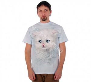 Футболка The Mountain Fluffy White Kitten - Белый пушистый котенок