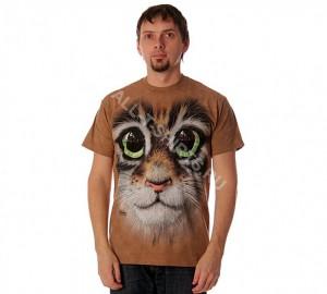 Футболка The Mountain Big Eyes Kitten Face - Морда Кошки С Большими Глазами
