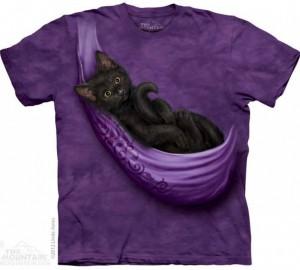 Футболка The Mountain Cats Cradle - Черный котенок в переноске