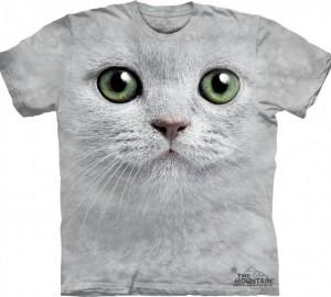 Футболка The Mountain Green Eyes Face - Морда кошки с зеленными глазами