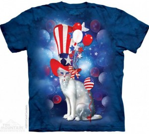 Футболка The Mountain Patriotic Cat Hatter - Кот Патриот