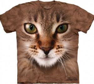Футболка The Mountain Striped Cat Face - Морда полосатого кота