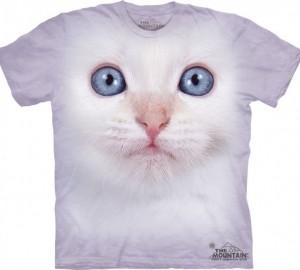 Футболка The Mountain White Kitten Face - Морда белого котенка