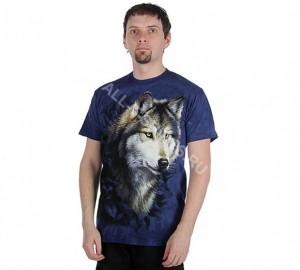 Футболка The Mountain Wolf in Blue Foliage - Волк в синей листве