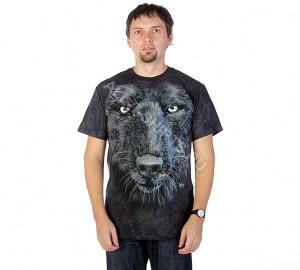 Футболка The Mountain Black Wolf Face - Морда черного волка