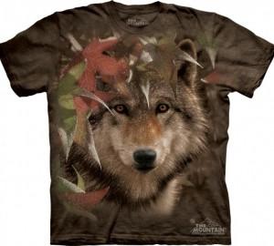 Футболка The Mountain Autumn Encounter - Волк в листве