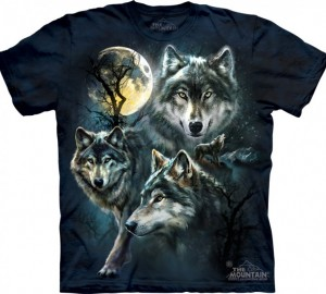 Футболка The Mountain Moon Wolves Collage