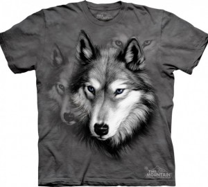 Футболка The Mountain Wolf Portrait - Портрет волка