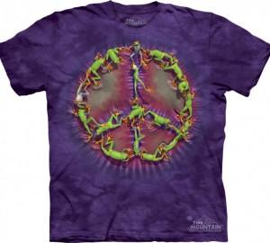 Футболка The Mountain Frog Peace Dye - Символ пацифики из лягушек