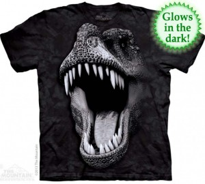 Футболка The Mountain Big Face Glow Rex - Морда тираннозавра рекса (светится в темноте)