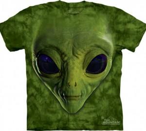 Футболка The Mountain Green Alien Face
