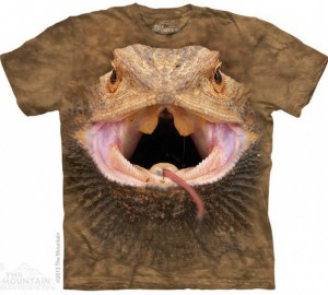 Футболка The Mountain Big Face Bearded Dragon - Морда Ящерицы