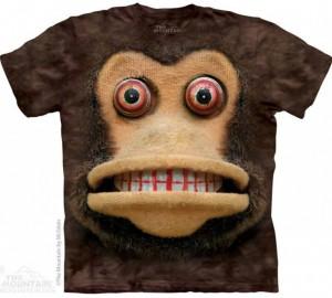Футболка The Mountain Big Face Cymbal Monkey - Плюшевая Обезьянка