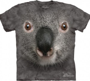 Футболка The Mountain Grey Koala Face - Морда серой коалы