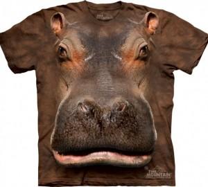 Футболка The Mountain Hippo Head - Морда гиппопотама