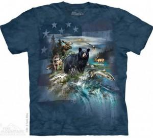Футболка The Mountain Patriotic North American Collage - Патриотический Коллаж
