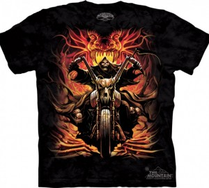 Футболка Skulbone Grim Rider - Байкер из ада