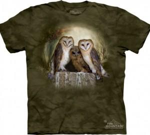 Футболка The Mountain Three Owl Moon - Три совы