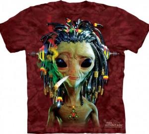 Футболка The Mountain Jammin Alien - Курящий инопланетянин