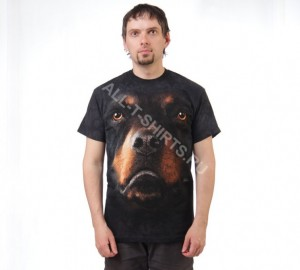 Футболка The Mountain Rottweiler Face - Морда ротвейлера