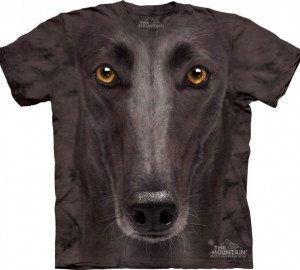 Футболка The Mountain Black Greyhound Face - Морда Грейхаунда