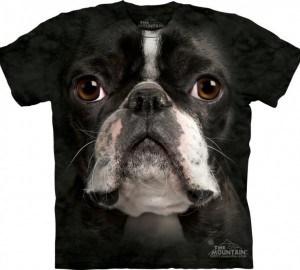 Футболка The Mountain Boston Terrier Face - Морда бостон-терьера