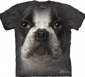 Футболка The Mountain French Bulldog Face - Морда французского бульдога