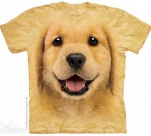 Футболка The Mountain Golden Retriever Puppy - Морда Щенка Золотистого ретривера