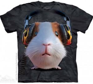 Футболка The Mountain DJ Guinea Pig - Диджей Морская Свинка
