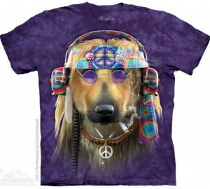 Футболка The Mountain Peace Dog - Курящий Диджей Пес