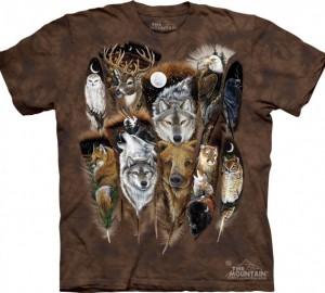 Футболка The Mountain Animal Feathers - Животные на перьях