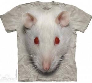 Футболка The Mountain Big Face White Rat - Белый Мышонок