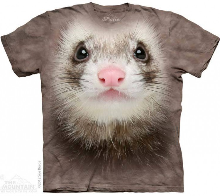 Футболка The Mountain Ferret Face - Морда хорька