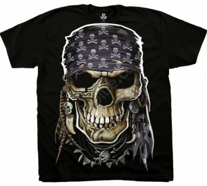 Футболка Liquid Blue Pirate Skull - Череп пирата