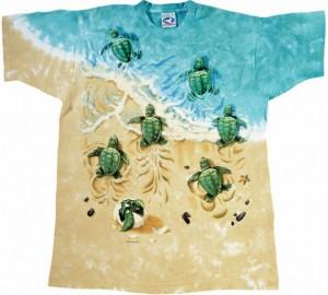 Футболка Liquid Blue Turtle beach - Черепашки на пляже (двухсторонняя)