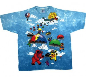 Футболка Liquid Blue Parachuting bears - Медвежата парашютисты (двухсторонняя)