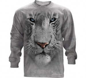Футболка The Mountain White Tiger Face - Морда белого тигра (длинный рукав)