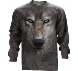 Футболка The Mountain Wolf Face - Волчья морда (длинный рукав)