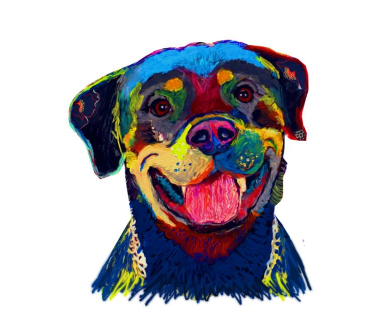 Dog Art Prints бейсболка (цвет: белый)