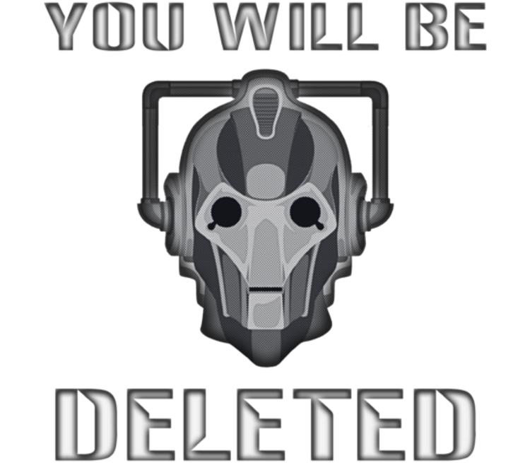 You will be deleted бейсболка (цвет: белый)