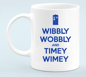 Wibbly Wobbly and Timey Wimey Кружка белая (цвет: Белый)