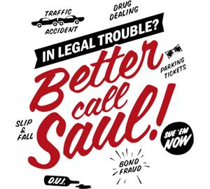 Better Call Saul подушка с пайетками (цвет: белый + черный)