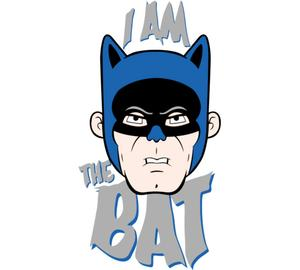I Am the Bat бейсболка (цвет: белый)