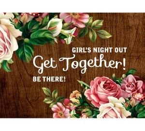 Girls night out get together be there - девичник подушка (цвет: белый)